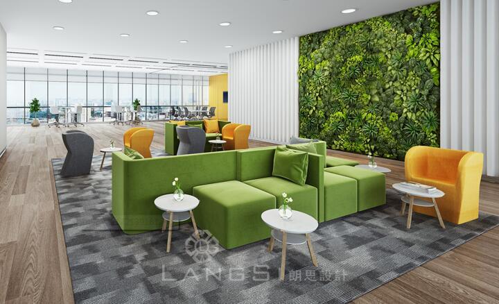 广州办公室设计有什么植物适合做装饰墙?