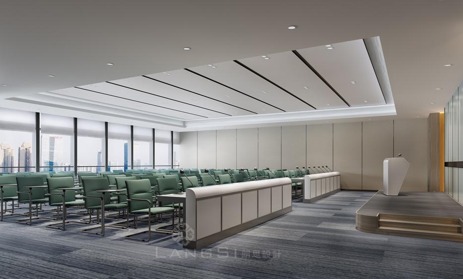 广州办公室设计中该如何设计天花板